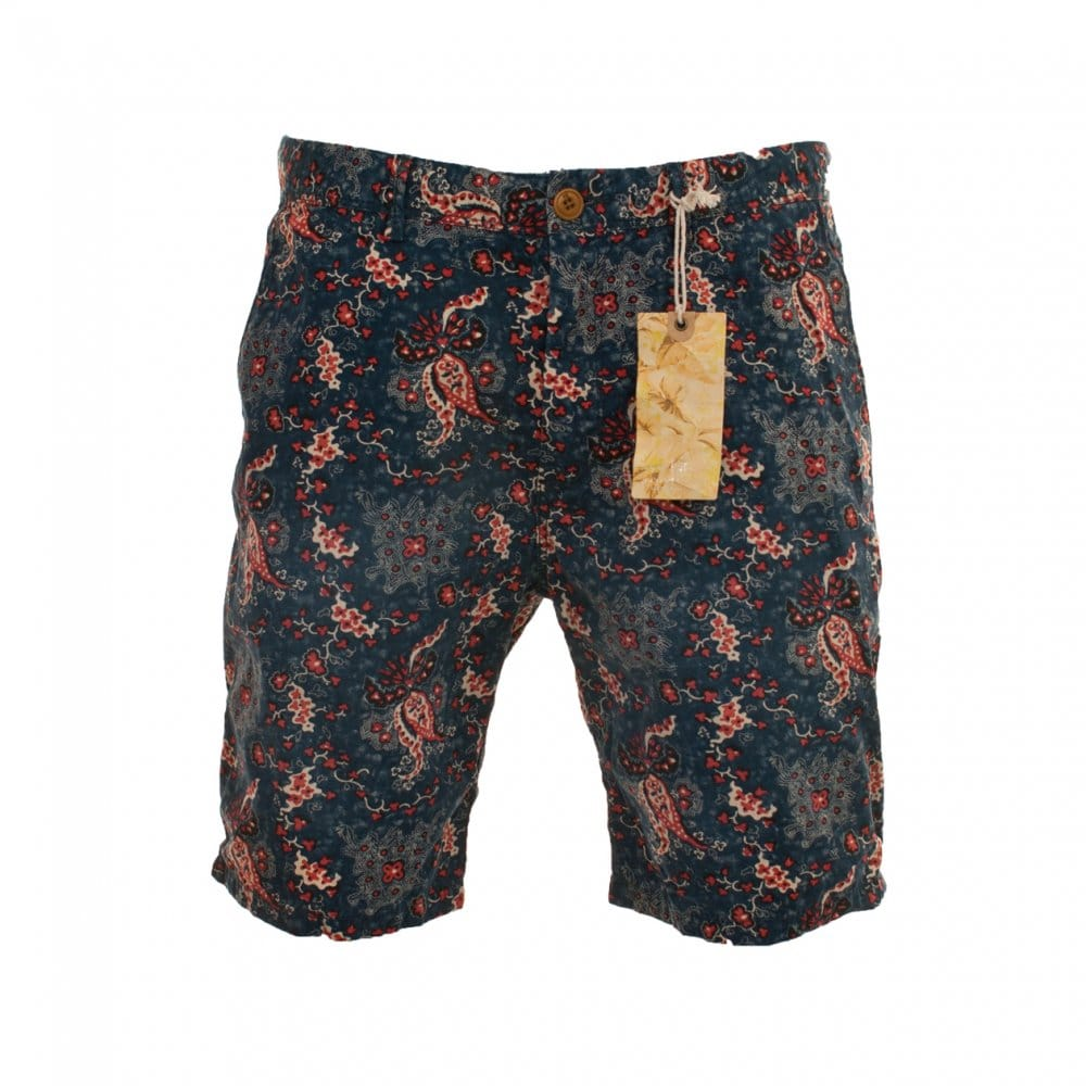 Scotch And Soda Flower Pattern Shorts 14010381116 A Blue Mens