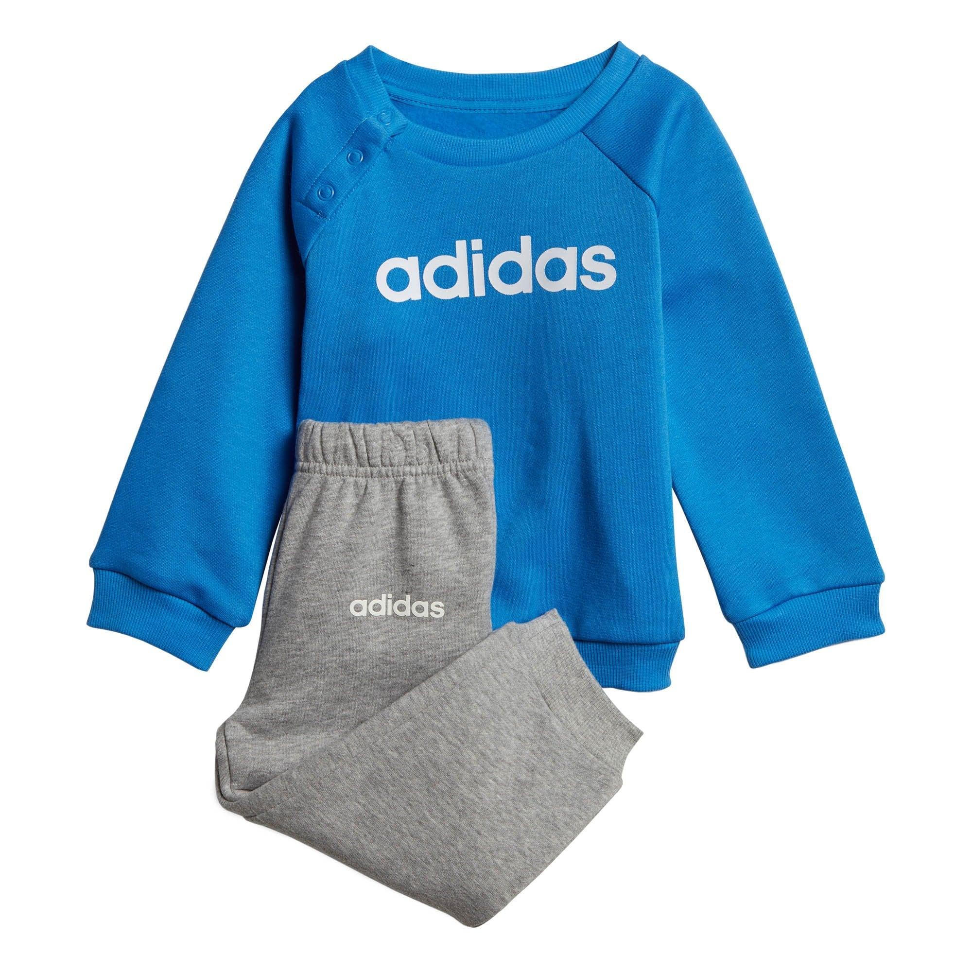 Colours: Blue//Grey or Grey//Black ADIDAS Infants Linear Fleece Jogger Suit