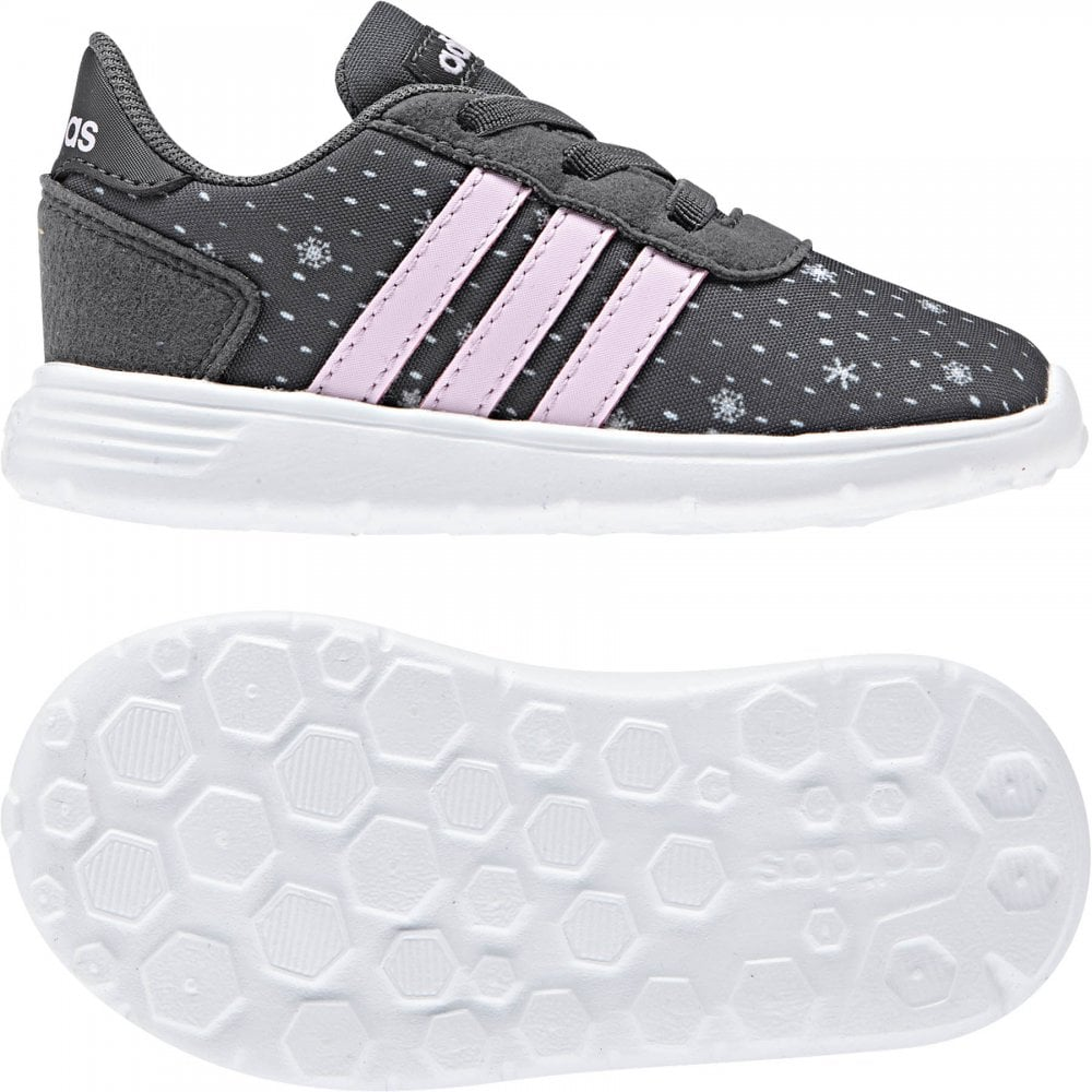 8dfd2e193 ADIDAS Infants Lite Racer Trainers (Grey Pink) - Kids from Loofes UK