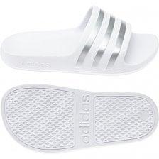 f9dd3151 ADIDAS Juniors Adilette Aqua Slides (White)