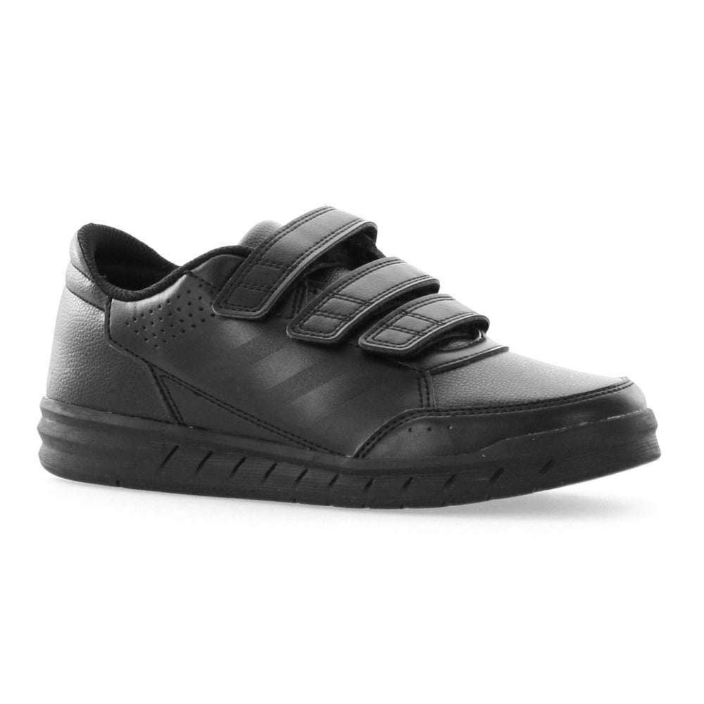 best sneakers 3aa29 1a152 ADIDAS Juniors Alta Sport Velcro Trainers (Black)