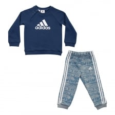 Adidas Juniors French Terry Jog Suit (Blue)