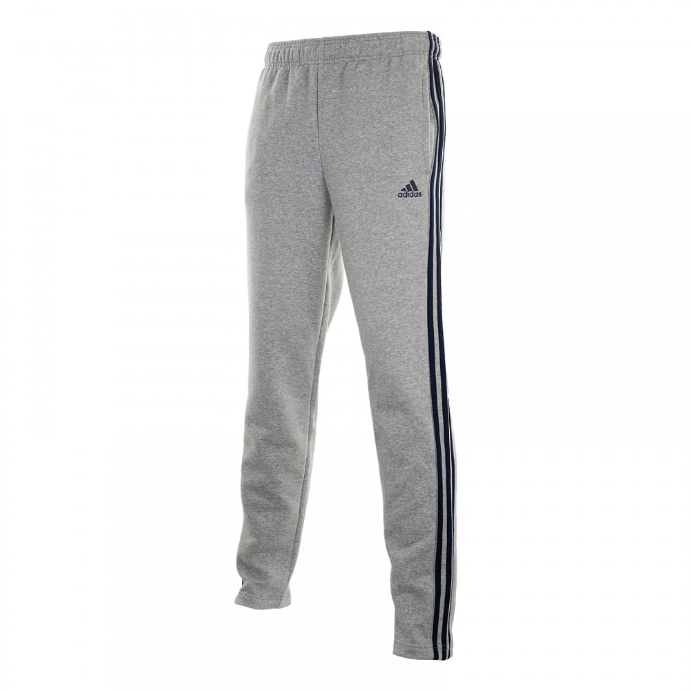 ADIDAS Mens 3-Stripe Fleece Joggers (Grey Navy) - Mens from Loofes UK 4018341504af