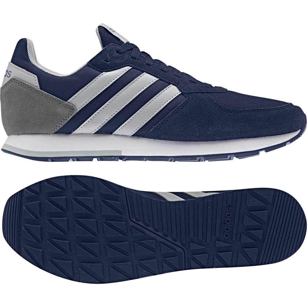 Buy Adidas Navy VS Set Sneakers with Textile Upper for Men