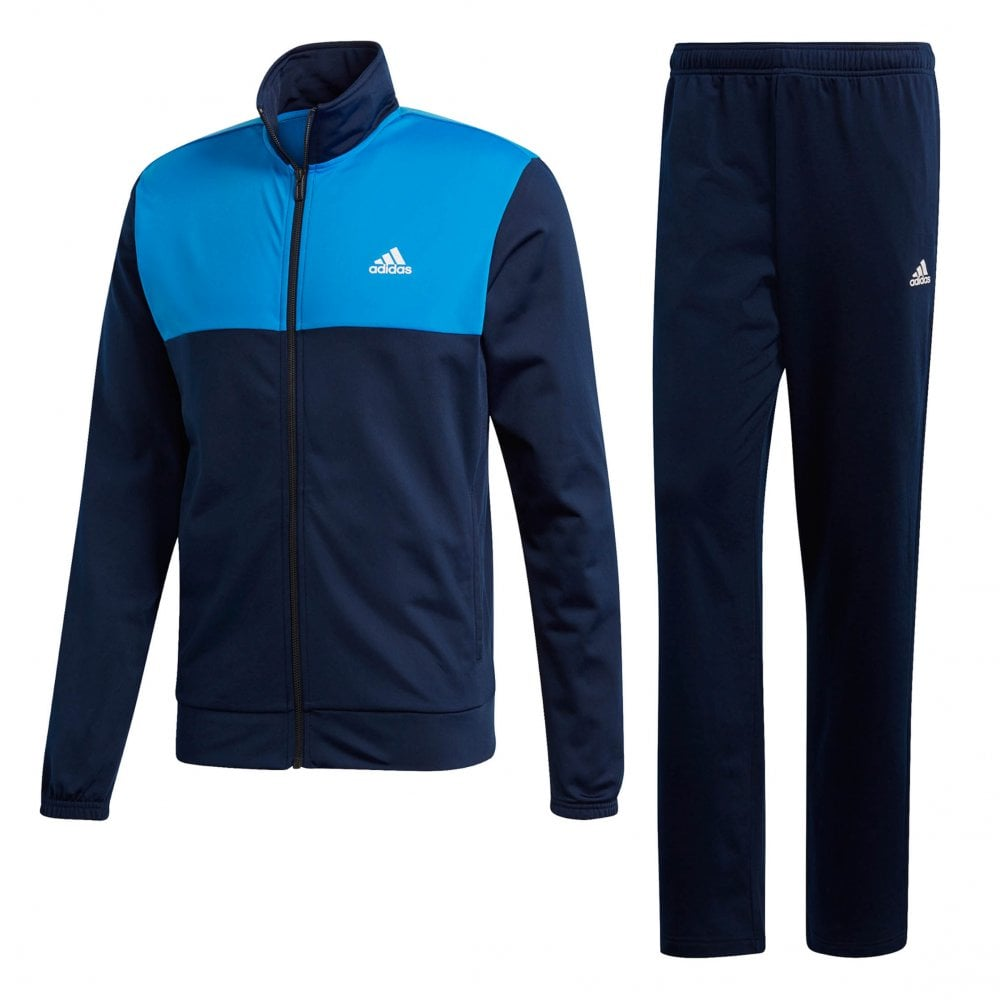 cheaper b6575 0149d ADIDAS Mens Back 2 Basics Track Suit (Navy Blue)