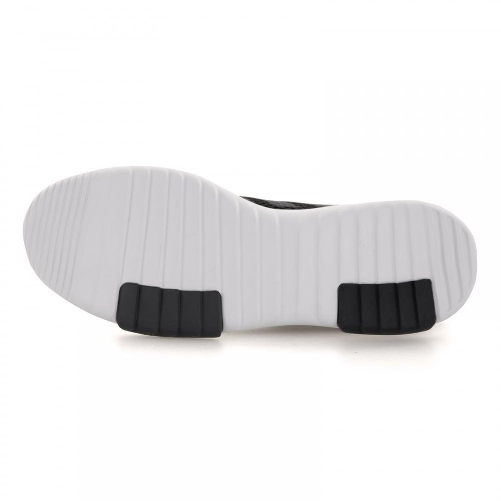 Adidas Uomo di racer tr formatori (nero / bianco) loofes Uomo dal regno unito