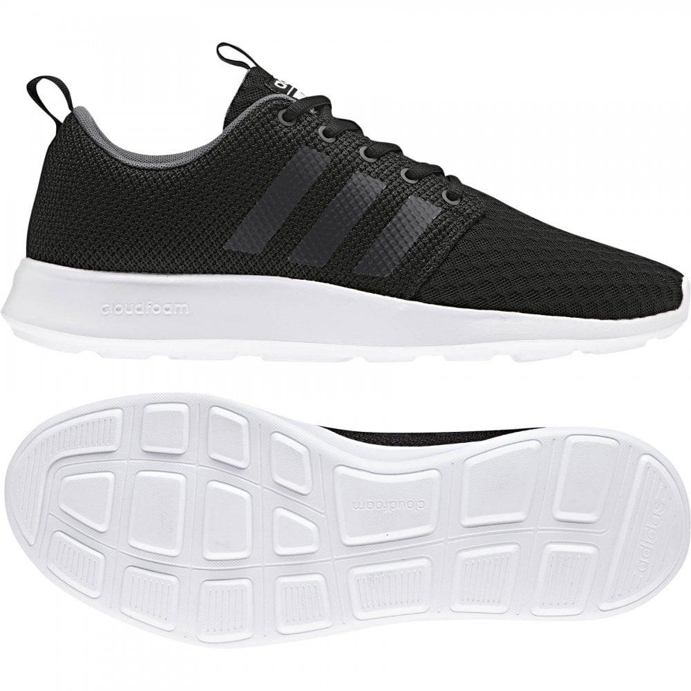 adidas mens black trainers uk