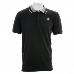 Adidas Mens Essential Polo T-Shirt (Black/Grey/White)
