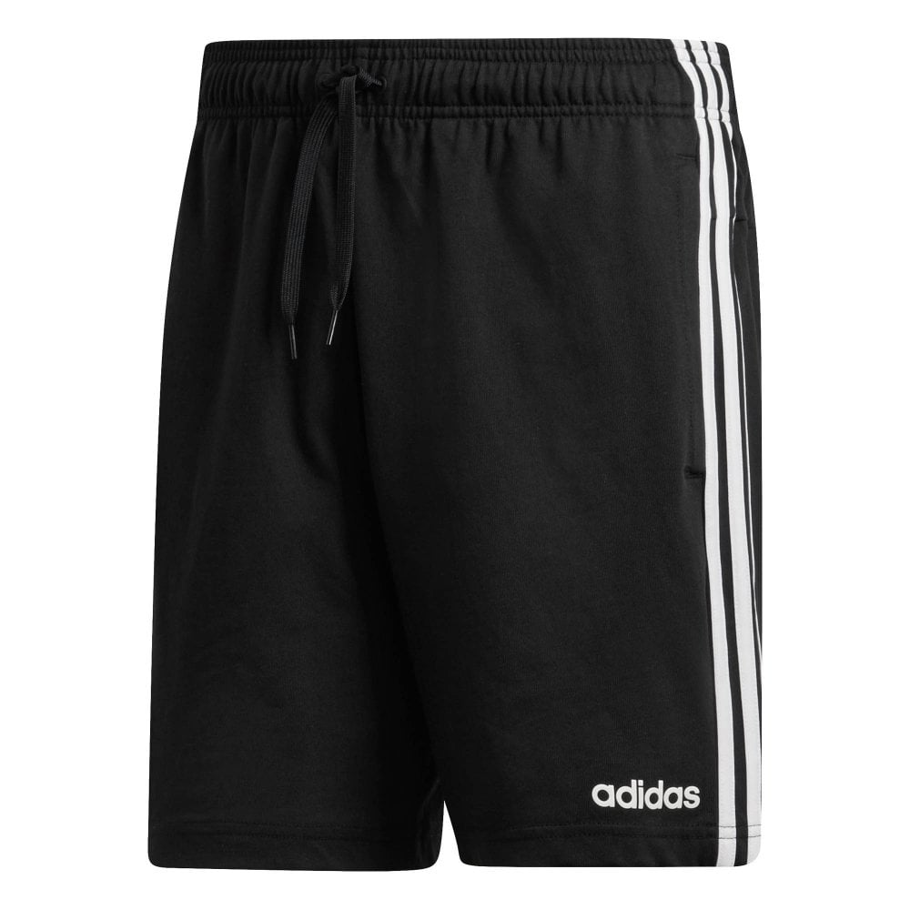 594e3d30e ADIDAS Mens Essentials 3-Stripe Jersey Shorts (Black) - Mens from ...