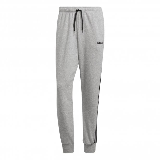 066cca084e22 ADIDAS Mens Essentials 3-Stripe Tapered Joggers (Grey   Black ...