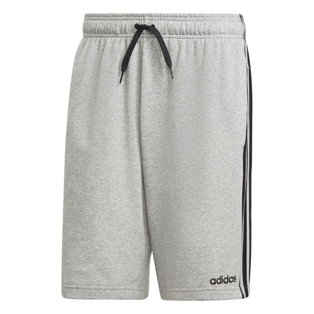 Mens Essentials 3 Stripes French Terry Shorts (Grey)