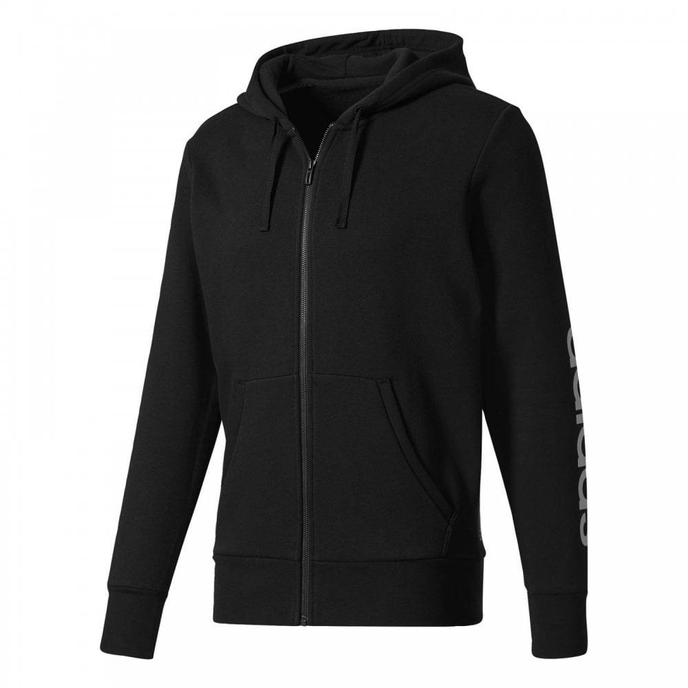 fb56625bf ADIDAS Mens Essentials Linear Fleece Hoodie (Black) - Mens from ...