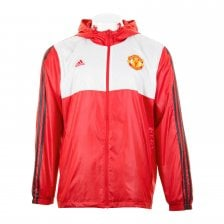 Adidas Mens Manchester United Windcheater Jacket (Red/White)