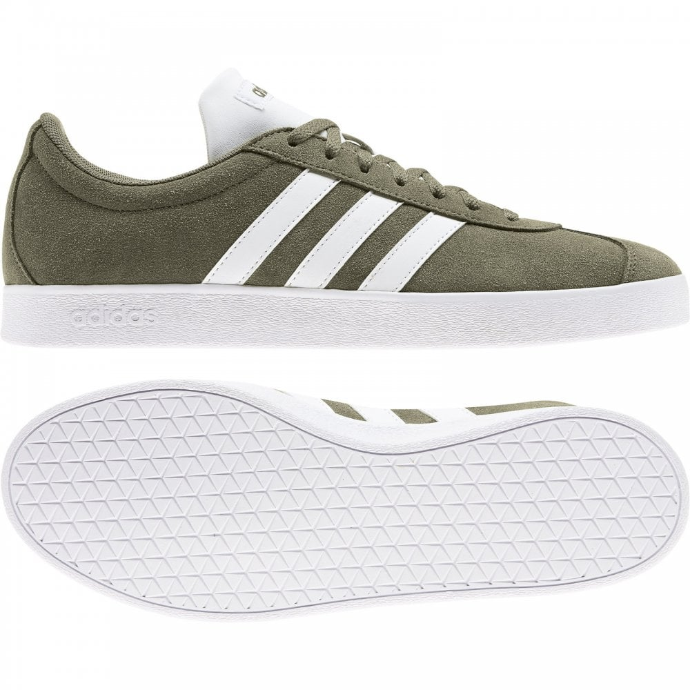 437c63199c2 Adidas ADIDAS Mens VL Court 2.0 Suede Trainers (Khaki) - Mens from ...