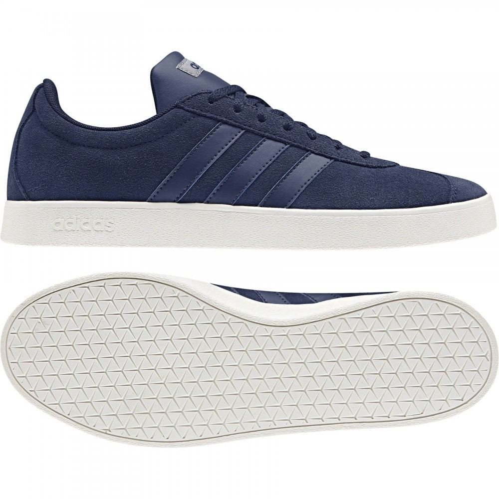 3324d6bc552d ADIDAS Mens VL Court 2.0 Suede Trainers (Navy) - Mens from Loofes UK