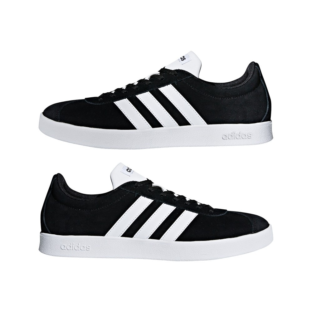 adidas mens vl court 2 0 trainers black mens from loofes uk. Black Bedroom Furniture Sets. Home Design Ideas