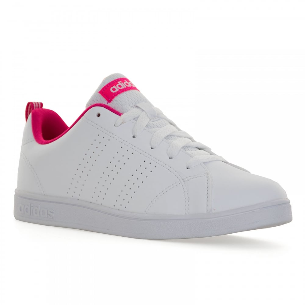 Adidas Neo Juniors Advantage Clean Trainers (White/Pink)