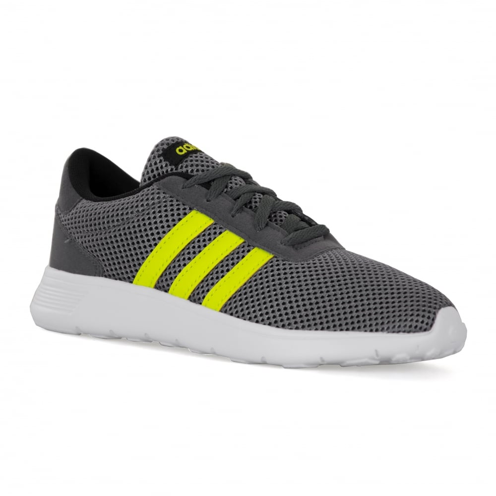 01e63d7ea cheap adidas neo juniors lite racer 317 trainers grey yellow f68df 9bfd6