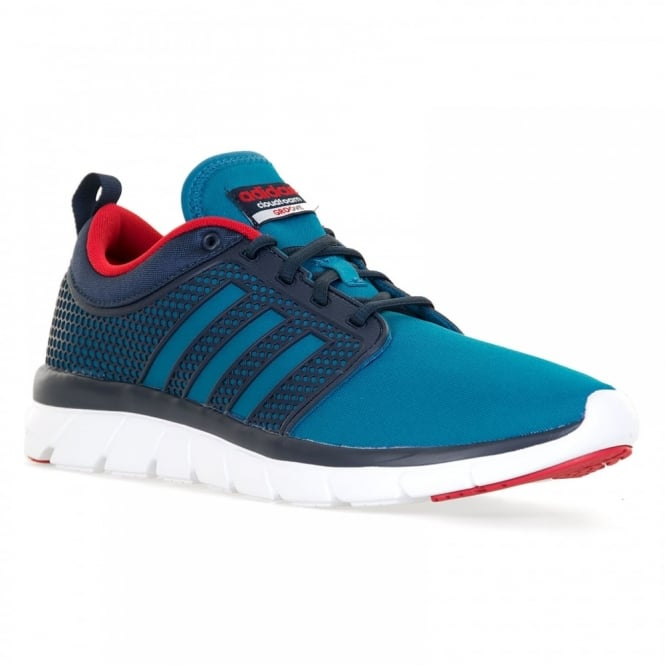 Adidas Neo Mens Cloudfoam Groove 316 Trainers (Blue/Navy/Red)