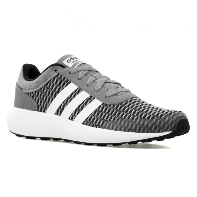 Adidas Neo Mens Cloudfoam Race 316 Trainers (Black/White/Grey)