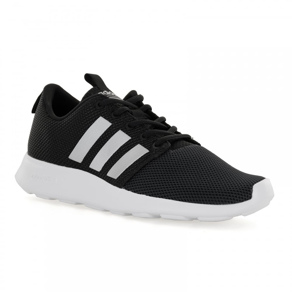 adidas neo mens cloudfoam swift 117 trainers black mens from