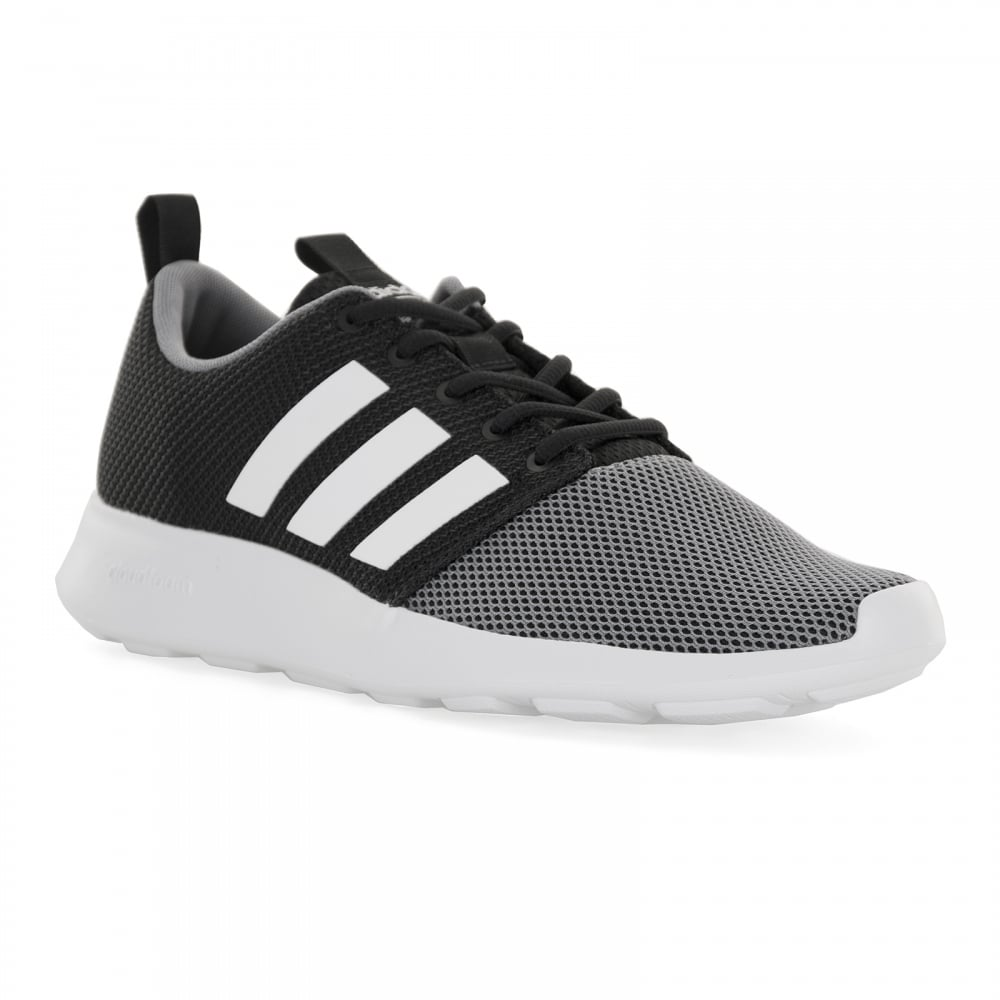 adidas neo mens cloudfoam swift trainers black grey mens from