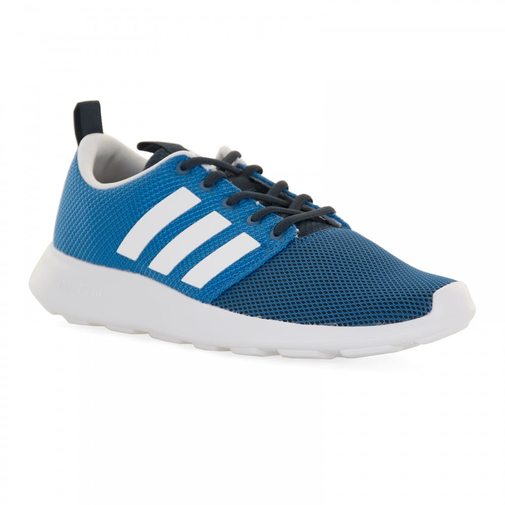 Adidas Neo Mens Cloudfoam Swift Trainers (Blue)