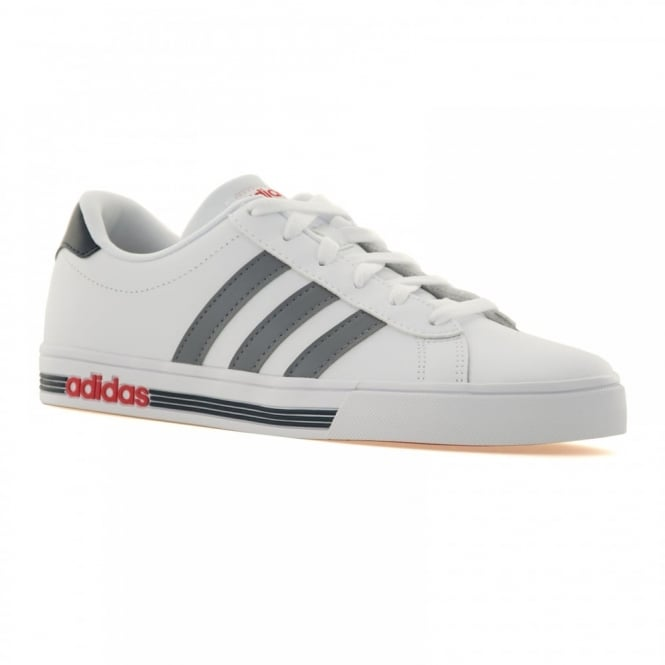 Adidas Neo Mens Daily Team 116 Trainers (White/Grey/Power Red)