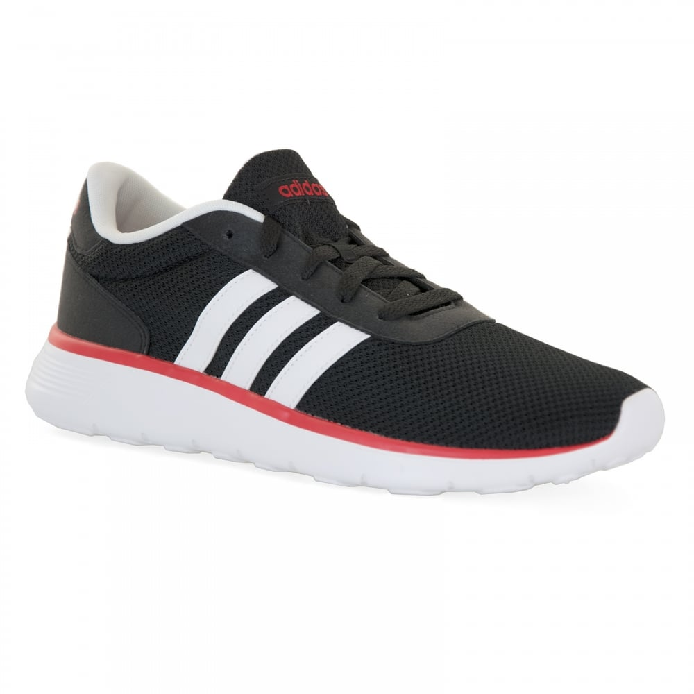 adidas neo mens lite racer 117 trainers black red mens. Black Bedroom Furniture Sets. Home Design Ideas
