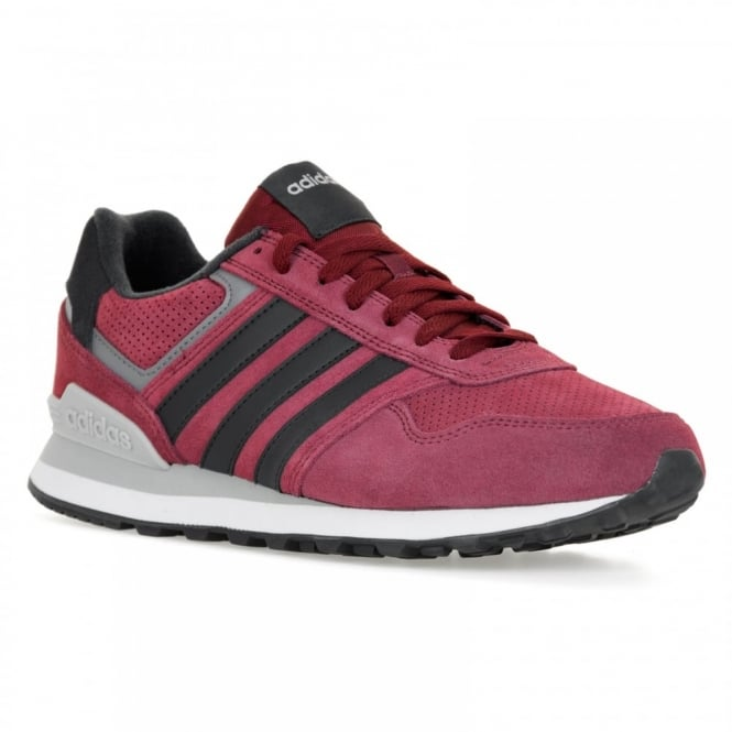 Adidas Neo Mens Runeo 10K 316 Trainers (Burgundy/Natural Grey/Onix)