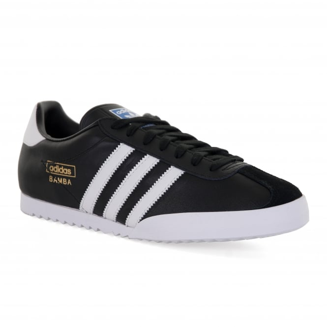 Adidas Originals Bamba Trainers (Black/White/Metal Gold)