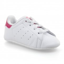 Adidas Originals Infants Stan Smith Crib Shoes (White/Bold Pink)