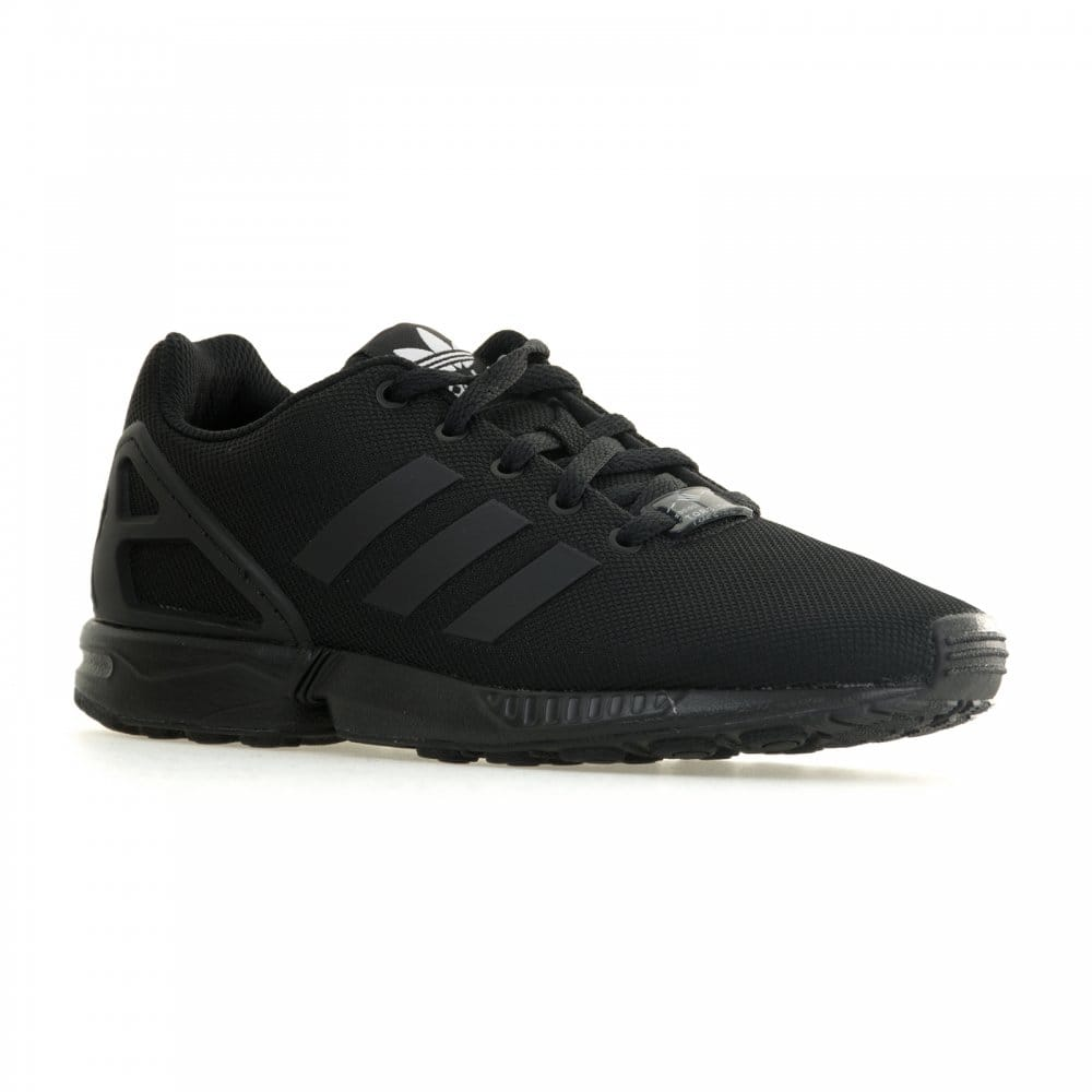 adidas originals juniors zx flux 415 trainers black. Black Bedroom Furniture Sets. Home Design Ideas
