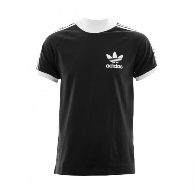 Adidas Originals Mens 3 Stripe T-Shirt (Black)