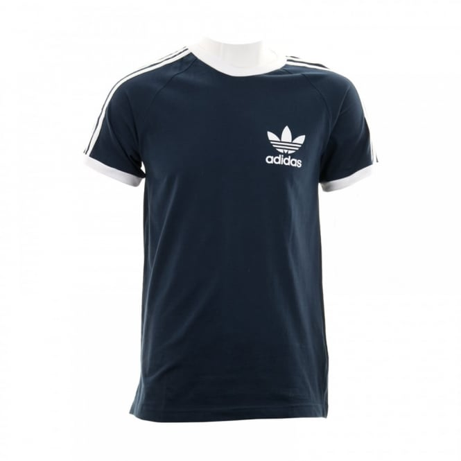 Adidas Originals Mens 3 Stripe T-Shirt (Navy)