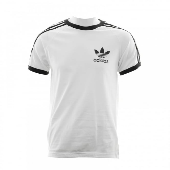 Adidas Originals Mens 3 Stripe T-Shirt (White)