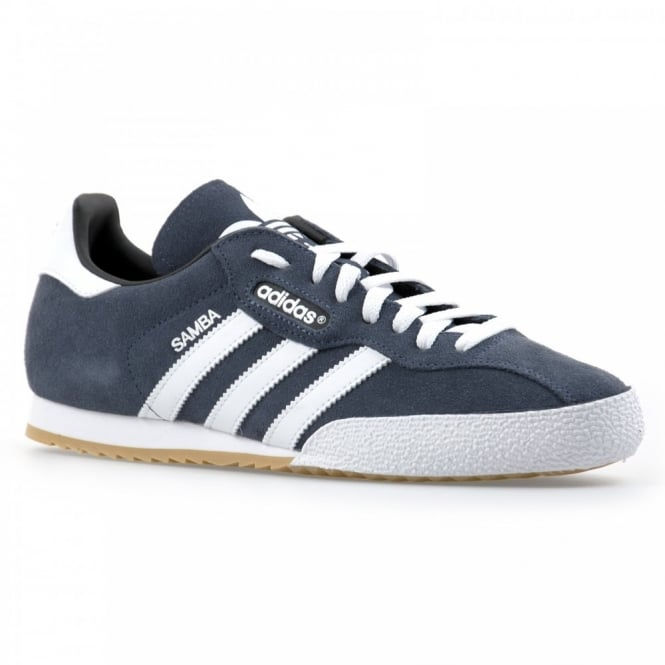 Adidas Originals Mens Adi-Samba Sup Suede Trainers (Navy/White)