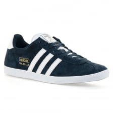 Adidas Originals Mens Gazelle OG Trainers (Dark Indigo/White/Metallic Gold)