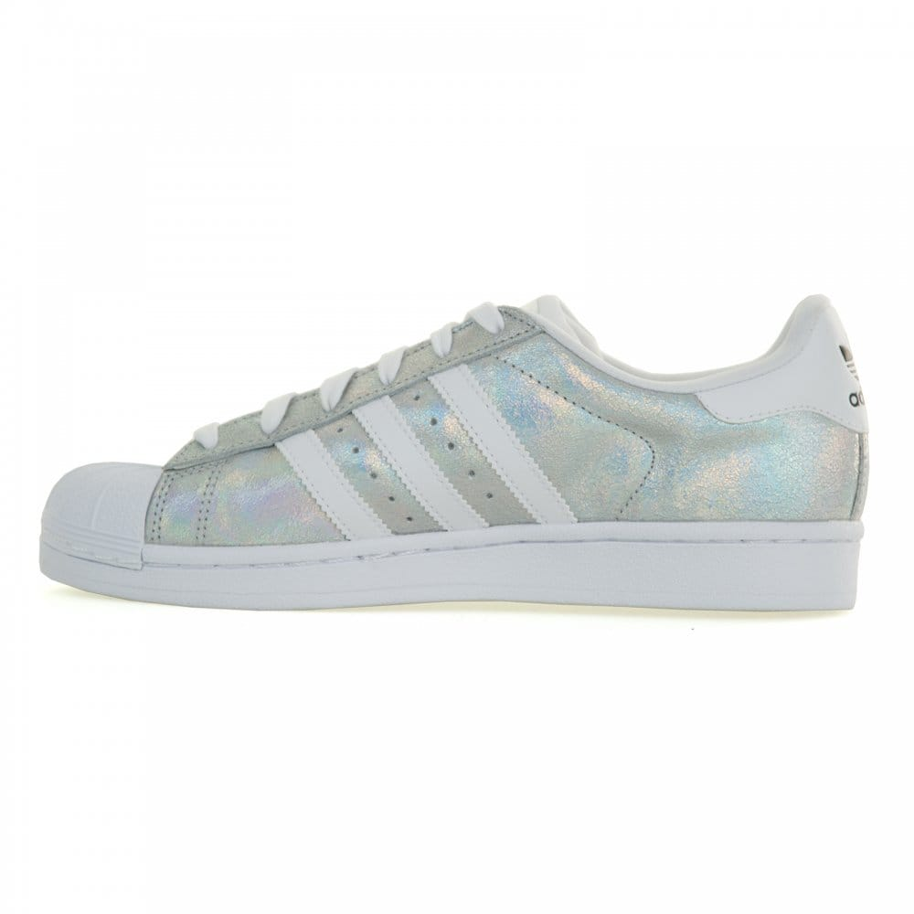 Adidas Superstar Womens Silver Glitter