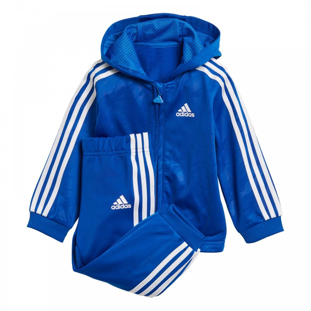 ADIDAS Performance Infants 3-Stripe Shiny Track Suit (Blue) - Kids ... aa569281a5