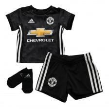 Adidas Performance Infants Manchester United 2017/2018 Baby Away Kit (3M-18M) (Black)