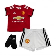 Adidas Performance Infants Manchester United 2017/2018 Baby Home Kit (3M-18M) (Red/White)