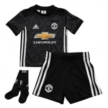 Adidas Performance Infants Manchester United 2017/2018 Mini Away Kit (18M-6Y) (Black)