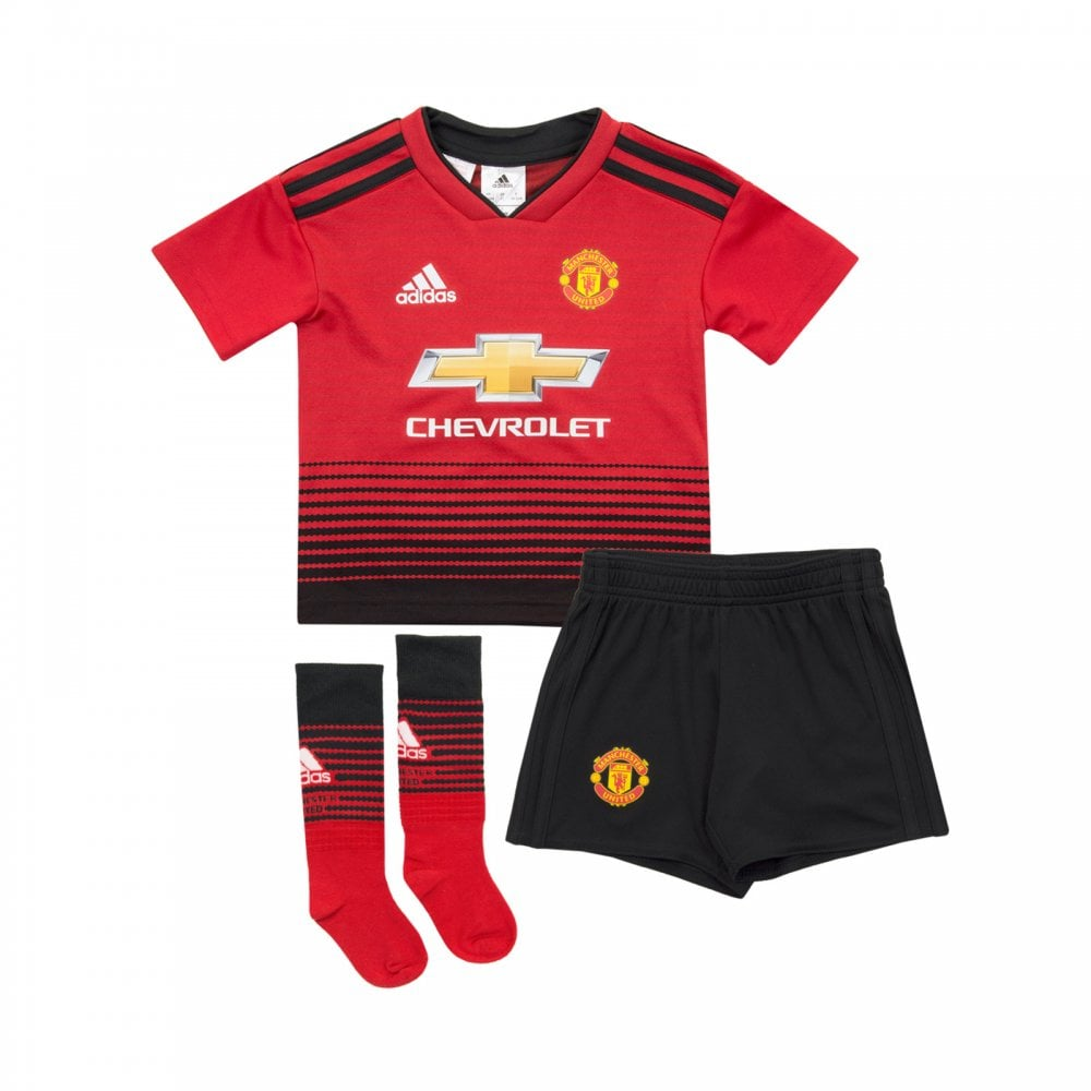 ADIDAS Performance Infants Manchester United 2018 2019 Mini Home Kit  (18M-6Y) 642194f94