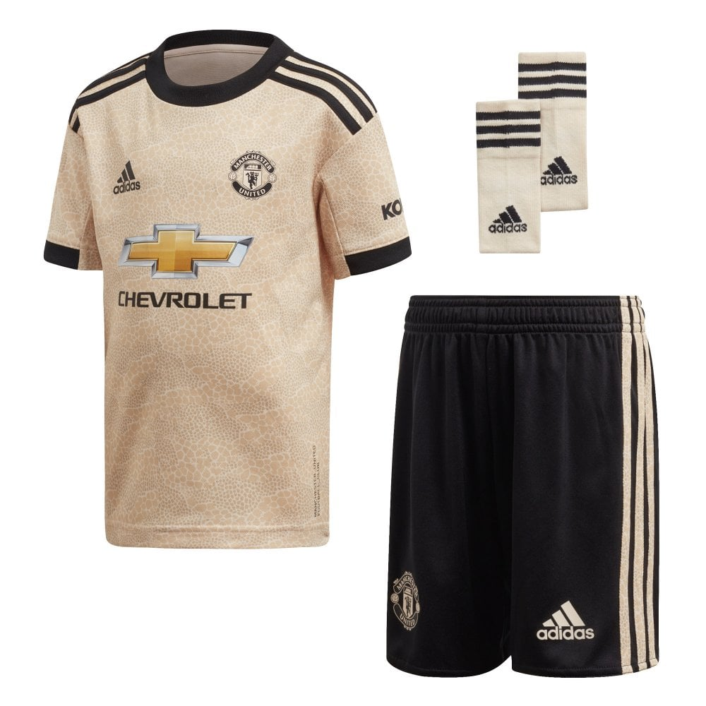 quality design 656fc 30b13 Infants Manchester United 2019/2020 Mini Away Kit (18M-6Y) (Gold / Black)