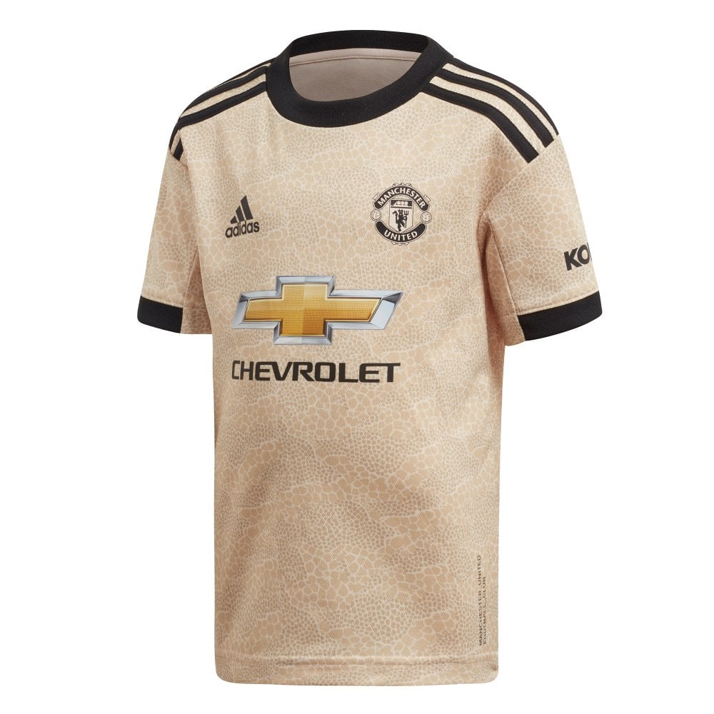 quality design 51ebe 3dcf4 Infants Manchester United 2019/2020 Mini Away Kit (18M-6Y) (Gold / Black)