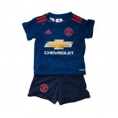 Adidas Performance Infants Manchester United Away Kit 16/17 (Blue/Red)