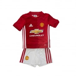 Adidas Performance Infants Manchester United Home 16/17 Mini Kit (Real Red/White)