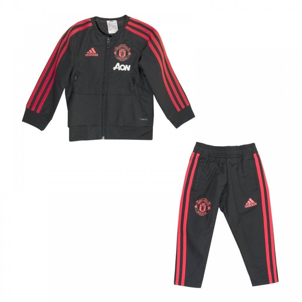 tout neuf 45a87 570ff Infants Manchester United Tracksuit (Black)