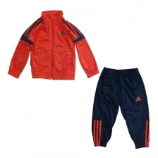 Adidas Performance Juniors 3-Stripe Tracksuit (Red/Navy)